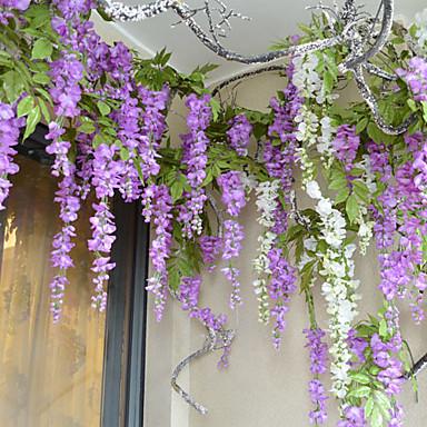 billige Kunstige blomster-Kunstige blomster 1 Gren Bryllupsblomster Lilla Bordblomst