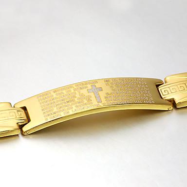 Homens Pulseira Vintage Festa Trabalho Casual Corrente Aço Inoxidável Aço Titânio Dourado Jóias Jóias de fantasia