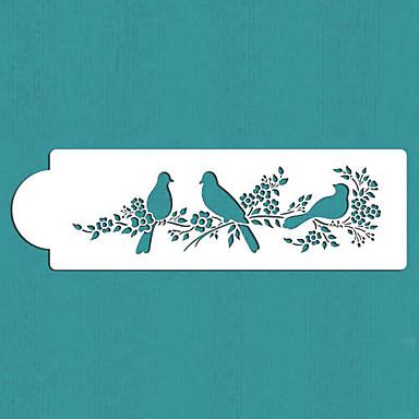 sevgililer hediye aşk kuşları pasta yan şablon, st-295