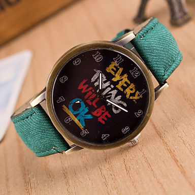 Unisex Circular Quartz Fashion Wrist Watch everything will be ok Word Watch Women's Watch Student Watch Men WatchCool Watches Unique Watches
