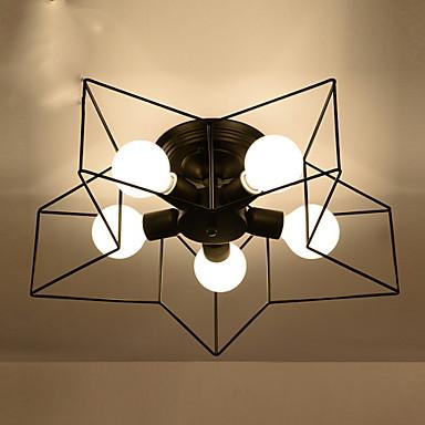 5 lumières Montage du flux Lumière dirigée vers le bas - Style mini, 110-120V / 220-240V Ampoule non incluse / 10-15㎡ / E26 / E27