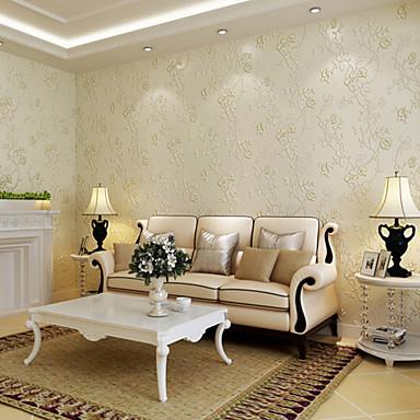 Blumen Haus Dekoration Moderne Wandverkleidung, Nicht-gewebtes Papier Stoff Tapete, Zimmerwandbespannung