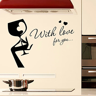 Eğer İngilizce kelimeler için sevgi ile duvar çıkartmaları duvar çıkartmaları tarzı&pvc duvar çıkartmaları tırnak
