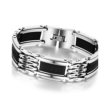 Homens Pulseiras em Correntes e Ligações Bracelete Original Fashion Aço Inoxidável Silicone Outros Jóias Presente