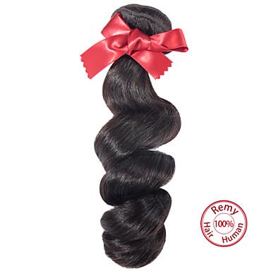 evet peruwiański dziewiczy włosy pakiet 1szt 6a nieprzetworzone ludzki włos wyplata peruvian luźne fali Natural Black
