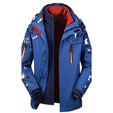 Men's Hiking Jacket Waterproof Rain-Proof Waterproof Zipper Static-free Waterproof Top for Skiing Snowsports Downhill Snowboarding Winter