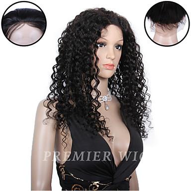 halpa Aitohiusperuukit verkolla-Aidot hiukset 100% käsinsidottu Lace Front Peruukki tyyli Brasilialainen Kihara Peruukki 130% 150% 180% Hiusten tiheys ja vauvan hiukset Luonnollinen hiusviiva Afro-amerikkalainen peruukki 100