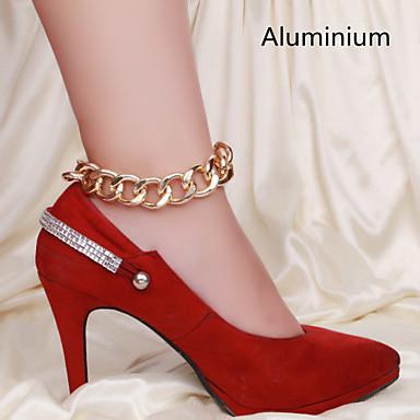 Yüksek Topuk Gümüş Kaplama Ayak bileziği - Kadın's Ayak bileziği Uyumluluk Parti Günlük