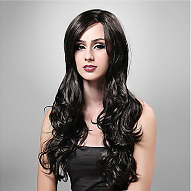Synthetic Wig Wavy Synthetic Hair Wig Women's Long Capless