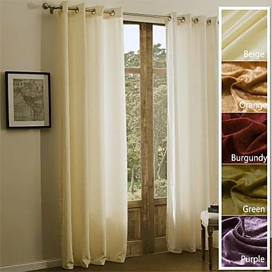Barra no Interior Anéis Presilhas Duplo Plissado Um Painel Tratamento janela Regional Modern Mediterrêneo Barroco Europeu Designer ,