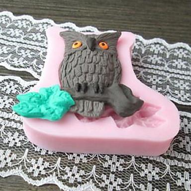 Uil Shaped Bak fandant cakevorm, L5.7cm * W5.8cm * H1.2cm