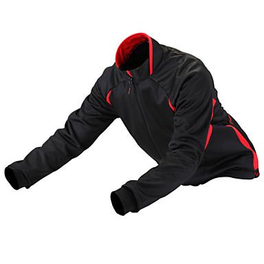 GETMOVING Cycling Jacket Unisex Bike Winter Fleece Jacket Jersey Top Winter Fleece Bike Wear Waterproof Anatomic Design Fleece Lining