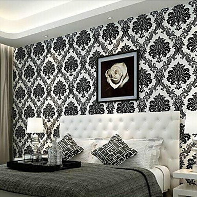 Art Deco Wallpaper Contemporary Wall Covering , Non-woven Paper 0.53m*10m