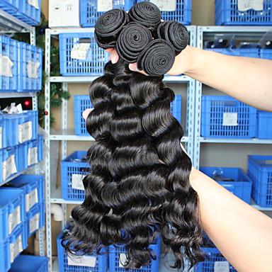 Człowieka splotów włosów Włosy peruwiańskie Luźne fale 12 miesięcy sploty włosów
