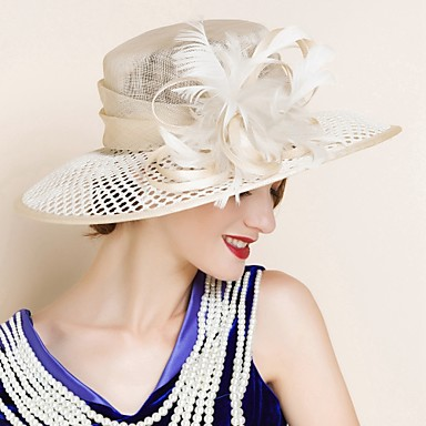 672e1080 Women's Flax Headpiece - Wedding / Special Occasion Hats 1 Piece ...