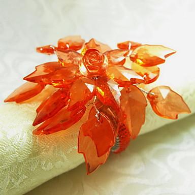 Poinsettia yılbaşı peçete halkası noel, akrilik, 1.77inch, 12 set