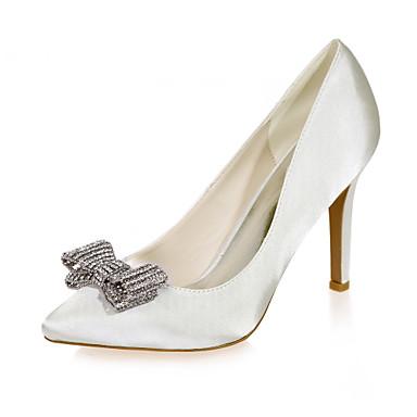 Talon Ivoire Satin amp; 04463351 Soirée Rose Aiguille Champagne Evénement Mariage Eté Femme Chaussures Printemps I8qHx