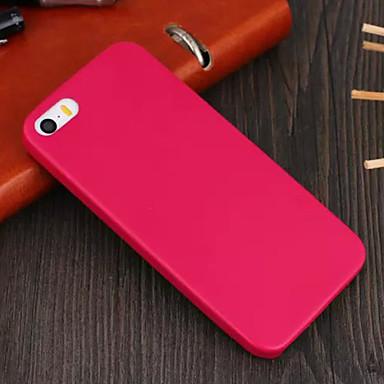 Pouzdro Uyumluluk iPhone 5 Apple iPhone X iPhone X iPhone 8 Plus iPhone 5 Kılıf Other Arka Kapak Tek Renk Sert PU Deri için iPhone X