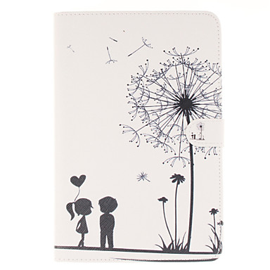 Couples Dandelion Pattern PU Leather Full Body Case with Stand and Card Slot for iPad mini 4