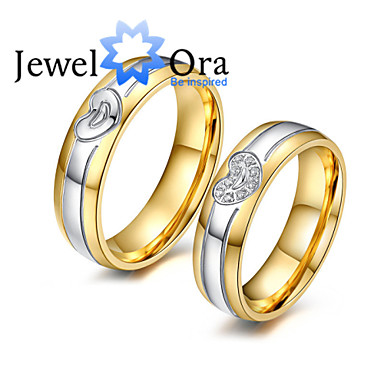 Ring,Band Rings,Jewelry Fashionable Party Platinum Plated / Steel Gold 1pc,One Size Women
