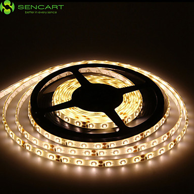 SENCART Flexible LED Light Strips 300 LEDs Warm White White Green Yellow Blue Red Remote Control / RC Cuttable Dimmable Waterproof
