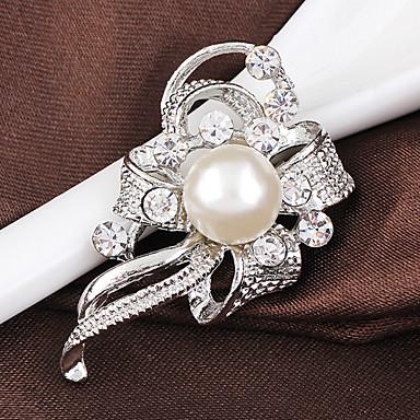 abordables Epingles & Broches-Femme Broche Elégant Mode Cristal Broche Bijoux Argent Lavande Pour Mariage Soirée Quotidien