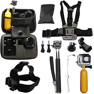 Teleskopstenger / Brystbelte / Hodebånd Vanntett / Flytende Til Action-kamera Gopro 6 / Alle / Gopro 5 Dykking / Surfing / Ski & Snowboard