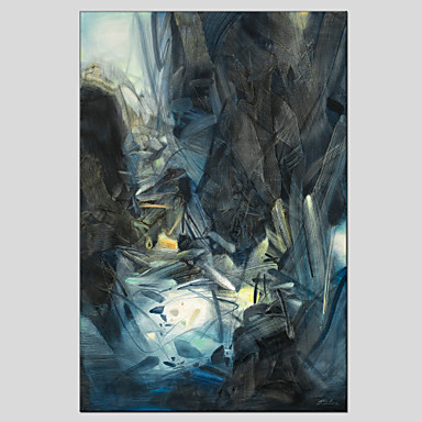 Pintados à mão Abstrato Vertical, Estilo Europeu Modern Tela de pintura Pintura a Óleo Decoração para casa 1 Painel