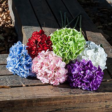 Seda / Plástico Hortênsia Flores artificiais
