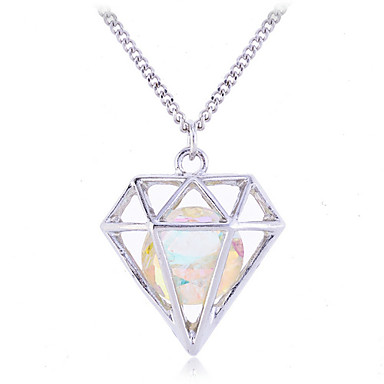 Women's Fashion Hollow Pendant Necklace Crystal Synthetic Gemstones Crystal Alloy Pendant Necklace , Party Daily Casual
