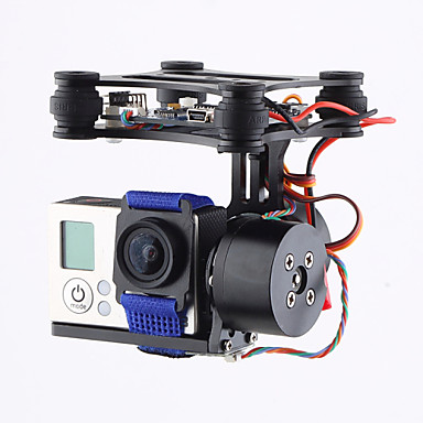 Brand CNC 2Axis Brushless Gimbal Camera Mount with Motor & Controller FPV PTZ for Gopro3 3+ 4 DJI Phantom 2 3 #04502433