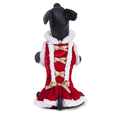 Кошка Собака Платья Одежда для собак Косплей Свадьба Красный Костюм Для домашних животных
