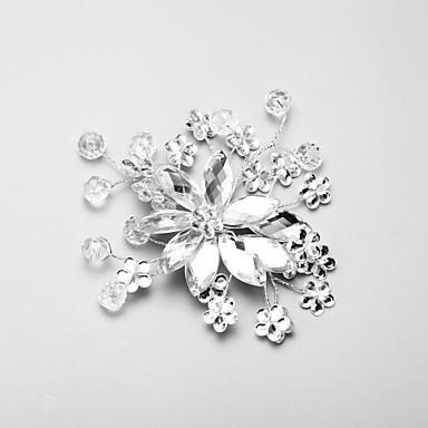 Crystal Rhinestone Alloy Flowers Headpiece Classical Feminine Style