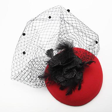 tulle höyhen kangas birdcage veils headpiece klassinen naisellinen tyyli