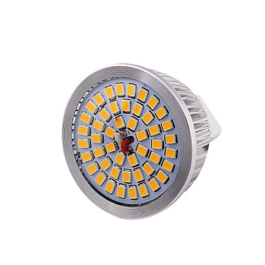 GU5.3(MR16) Spot LED MR16 48 diodes électroluminescentes SMD 2835 Décorative Blanc Chaud 600lm 3000K DC 12V