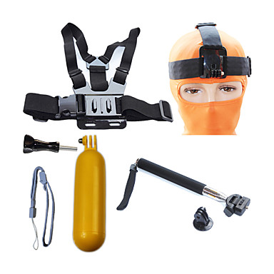 Telescopic Pole Front Mounting Straps Monopod Tripod Mount / Holder Waterproof Floating For Action Camera Gopro 6 Gopro 5 Xiaomi Camera