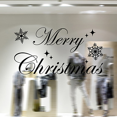 Free Shipping - Christmas Decoration Wall Stickers Window Stickers Holiday Santa Claus Ornaments Christmas Trees Bells