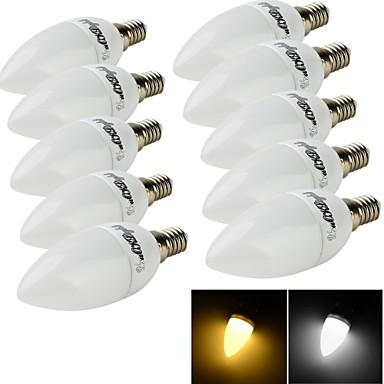 E14 LED gyertyaizzók C35 10 led SMD 2835 Dekoratív Meleg fehér Hideg fehér 200lm 3000/6000K AC 220-240V