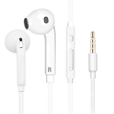 EARBUD Med ledning Hodetelefoner Plast Mobiltelefon øretelefon Med volumkontroll / Med mikrofon / Støyisolerende Headset