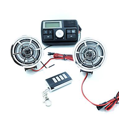 2 hoparlör atv uzaktan kumanda araba ses / motosiklet gidon stereo fm ses ile motosiklet hırsızlığı mp3 ses /