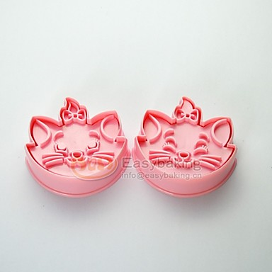 Cute Cartoon Animal 3D Disney Marie Cat Cookie Cutters and Stamps MC-61