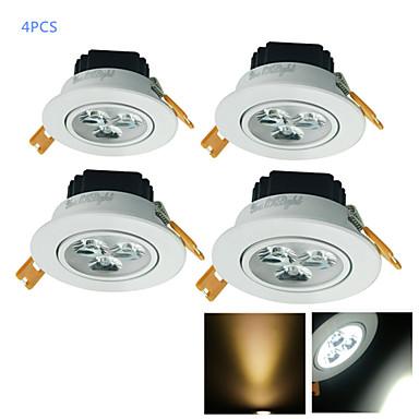 YouOKLight 300 lm LED Recessed Lights 3 leds High Power LED Decorative Warm White Cold White AC 110-130V AC 220-240V