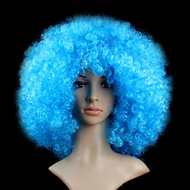 Synthetic Hair Wigs Wavy Afro Capless Short