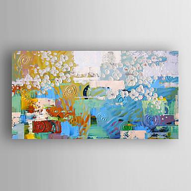 El-Boyalı Soyut Yatay Panoramik, Modern Tuval Hang-Boyalı Yağlıboya Resim Ev dekorasyonu Tek Panelli