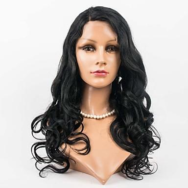 γυναίκες βραζιλιάνα παρθένα χρώμα των μαλλιών (# 1 # 1b # 2 # 4) μέτωπο κύματος σώμα μαλλιά δαντέλα περούκες