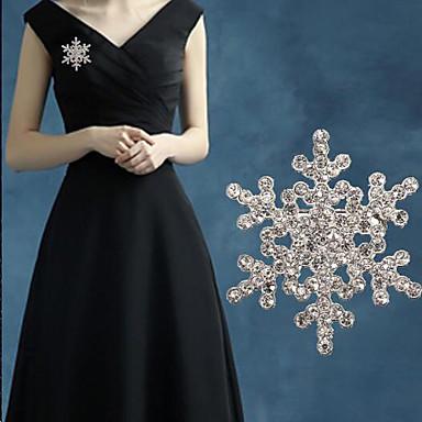 gyémánt hó bross (1 db)