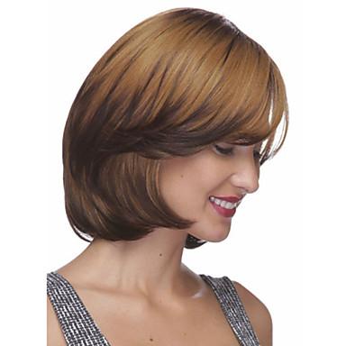 Sentetik Saç peruk Dalgalı Bob Saç Kesimi Bantlı Bonesiz Şort