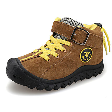 Boys' Shoes Outdoor / Athletic / Casual Faux Suede Fashion Sneakers Blue / Brown / Yellow / Red