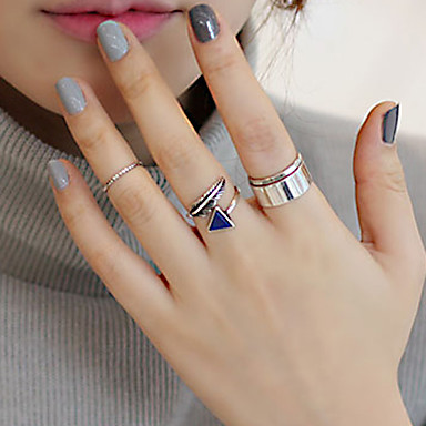 Women's Adjustable Open Alloy Triangle Leaf Geometric Jewelry Party Daily Casual
