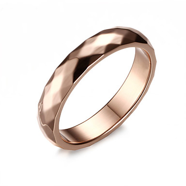 Men's Band Ring Fashion Titanium Steel Costume Jewelry Wedding Party Daily Casual